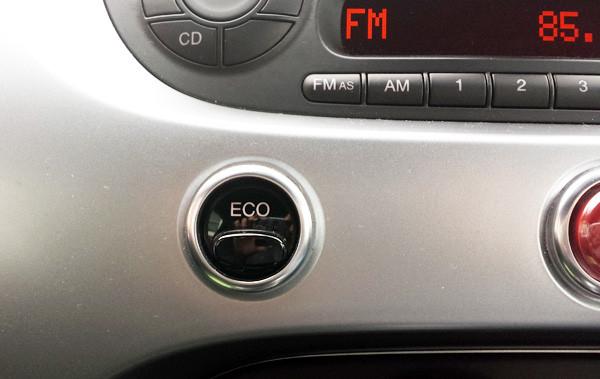 フィアット500S ECOスイッチ