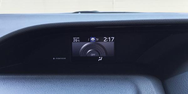 トヨタ新型エスクァイア マルチインフォメーションディスプレイ