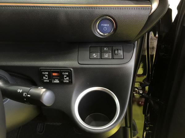 トヨタ新型シエンタ エンジンスタートボタン