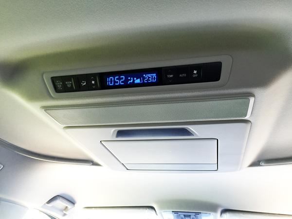 トヨタ30系新型アルファード リヤオートエアコン