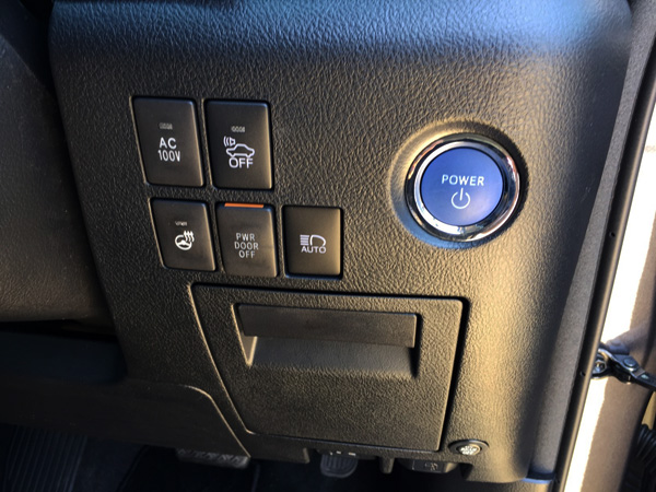トヨタ30系新型アルファード スタートボタン