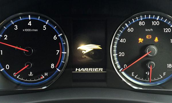 トヨタ・新型ハリアー メーター