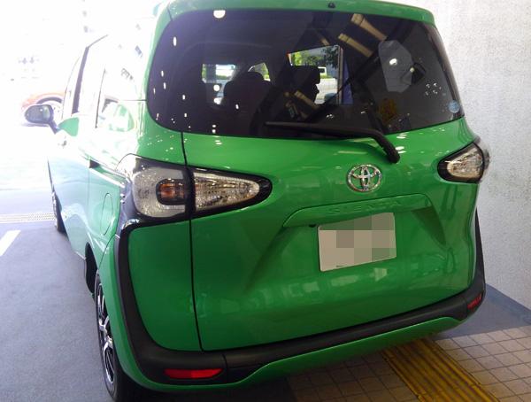 トヨタ新型シエンタ リヤ