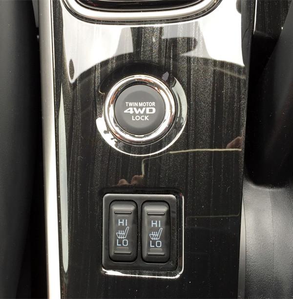 三菱・アウトランダーPHEV シートヒータースイッチ