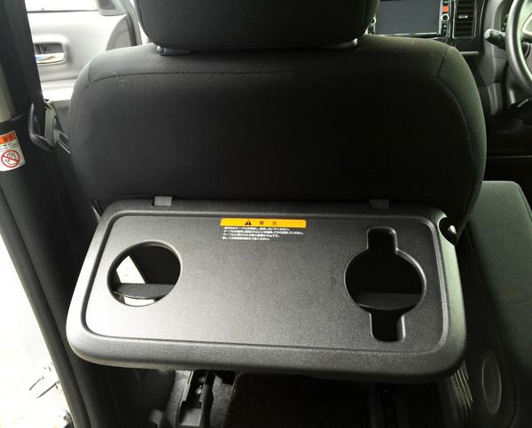 三菱・eKスペースカスタム 助手席シートバックテーブル