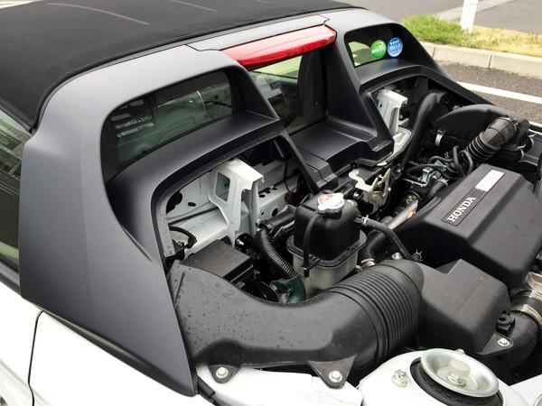ホンダ・S660 エンジンルーム