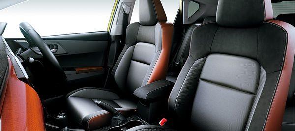 トヨタ・オーリス 120T シート表皮(本革×ウルトラスエード×合成皮革)