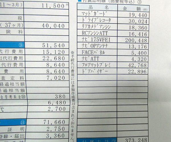 ホンダ・ヴェゼルハイブリッド RS 見積書(オプション)