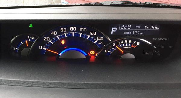 ダイハツ・タントカスタム RS トップエディション SAⅡ メーター
