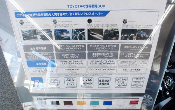 トヨタ・C-HR セールスポイント
