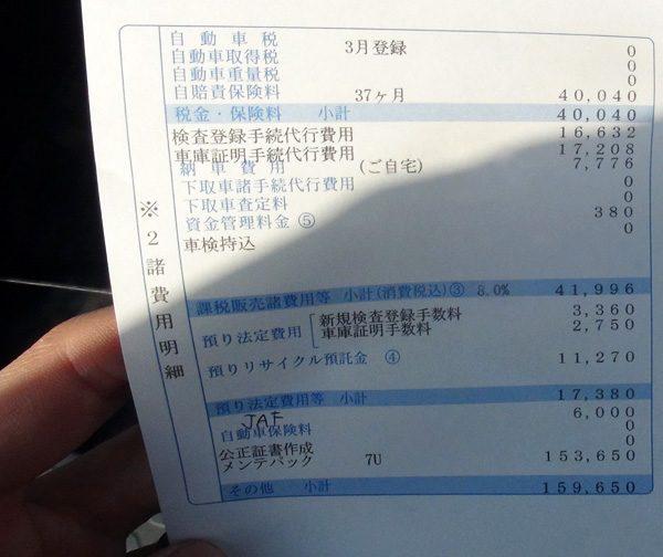 トヨタ・C-HR ハイブリッドG 見積もり諸費用