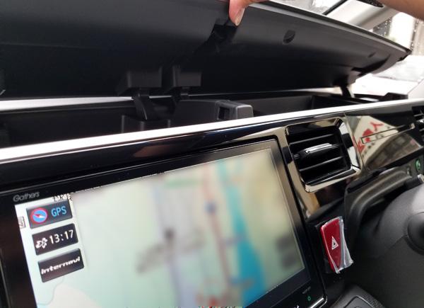 ホンダ・新型ステップワゴンハイブリッドEX インパネ収納