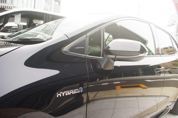 トヨタ・新型カローラスポーツ ハイブリッドGZ ドアミラー
