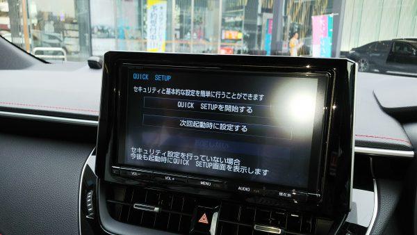 トヨタ・新型カローラスポーツ ハイブリッドGZ モニター