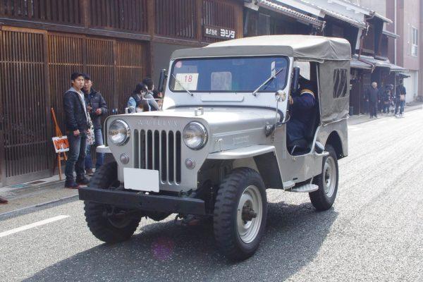 初期のライセンス生産の三菱製国産ジープ